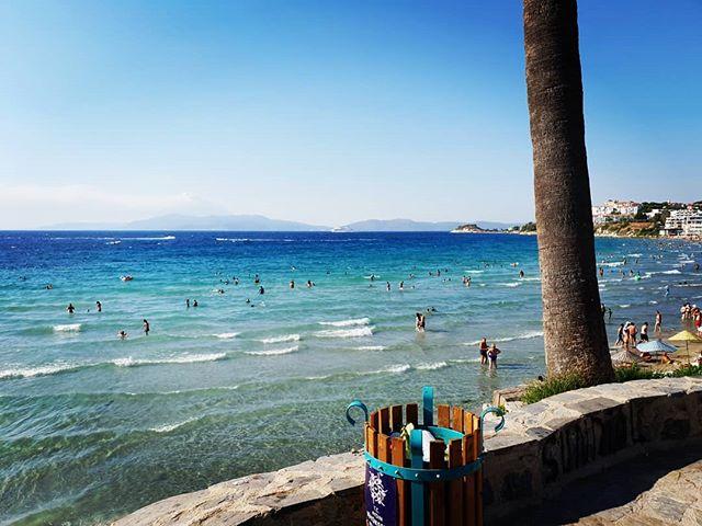 пляж в и Эгейское море